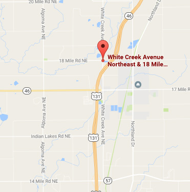 MDOT plans to reconstruct the stretch of US131 from south of 14 Mile to two miles north of where it crosses over White Creek Ave.