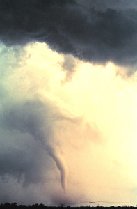 This tornado photo was taken on May 24, 1973 in Union City, Oklahoma. Credit: NOAA Photo Library, NOAA Central Library; OAR/ERL/National Severe Storms Laboratory (NSSL)