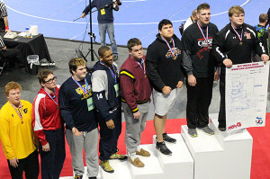 Senior Patrick Depiazza finished second in the state in the heavyweight division at the Palace at Auburn Hills.