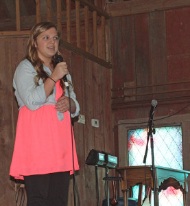 "Freshman Anya VanderMeulen sang ""Part of that World"" as a solo vocal performance."