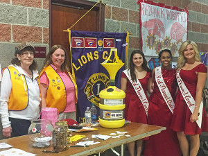 The Red Flannel Queen and Court visited many of the booths at Community night last week. Courtesy photo.