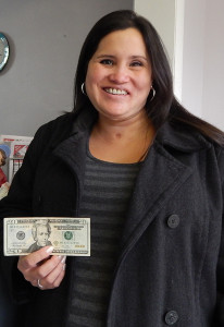 Felicia Smith, of Nelson Township, was our April Fools fast cash winner.