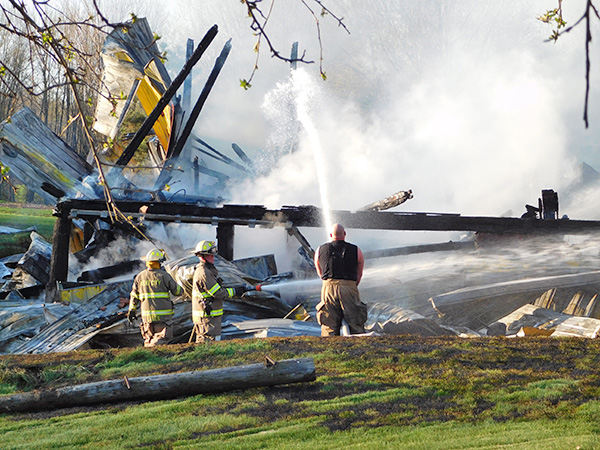 The barn was a total loss. Photo by J. Reed.