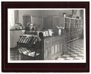 This photo shows a former librarian at 43 W. Cherry. Does anyone know who she is? Courtesy photo.