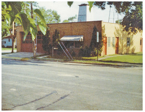 This photo shows how the library at 43 W. Cherry looked when they shared it with the fire station. Courtesy photo.