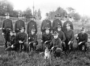 Michigan State Police Troopers in Port Huron in 1917.