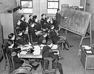 A 1930s MSP fingerprint class.