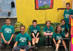 Odyssey of the Mind Team that did Odd-a-bot: Coryn Wiles, Ember Briggs, Brielle Sarniak, Walker Glyshaw, Nathanael Slager, Devin Jobson, and Silas Cartwright, all in 5th grade.