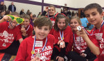 Odyssey of the Mind that did It's time, OMER: Dominic Vanderhyde and Michael Stevens, 4th grade; and Emily Stevens, Kendall Fisk, Alana Wiles, Jeremiah Slager, Logan Redes, 3rd grade.