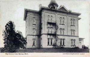 N-Old-High-School-1916-vintage-postcard-photo