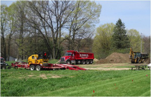 A new walking trail is under construction at Solon's Velzy Park. Courtesy photo.