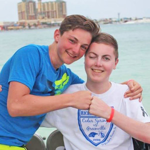 Teen cancer victims Brison (right) and Preston (left) Ricker.