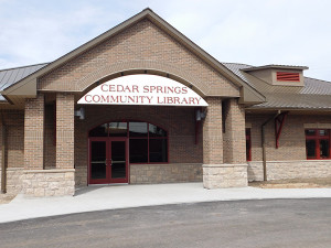 The new Cedar Springs Community Library will hold its grand opening celebration on May 13. Photo by J. Reed.
