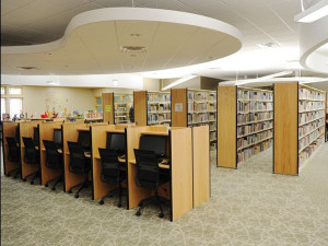 View of the interior of the new Cedar Springs Community Library