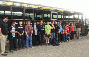 Approximately 17 6-9th graders, along with their chaperones, loaded the Men of Honor bus on April 26 to travel to Grand Rapids to watch the movie titled The Case for Christ.