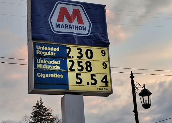 Gas prices 33 cents higher this Thanksgiving