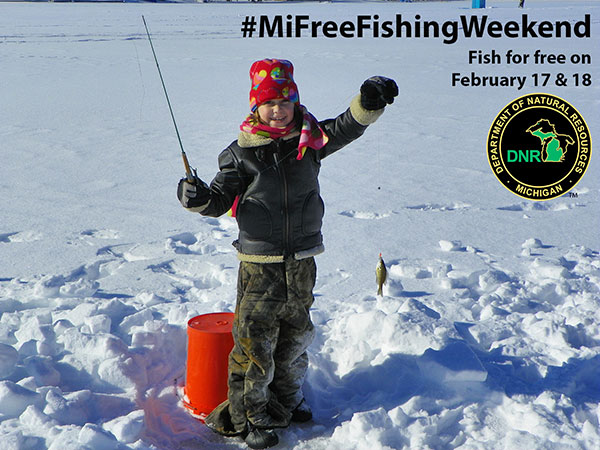 Experience free fishing weekend feb 17 18 cedar springs for Michigan fishing license prices