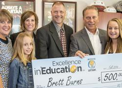 Cedar Springs teacher winsExcellence in Education Award