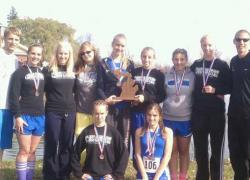 CTA girls cross country take 2nd at state