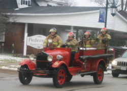 Fire department escorts funeral procession