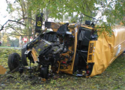 School bus destroyed in crash