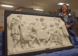Preserving history—museum restores  1911 sculpture