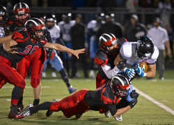 Red Hawks win first ever playoff game at Red Hawk stadium