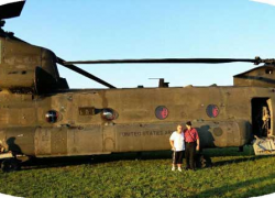 Chinook helicopter to land here for Veteran's Day