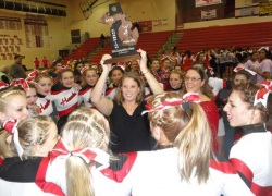 Cheer team clinches district title