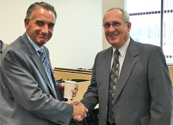 Sheriff, Larry Stelma meets with local Pastors