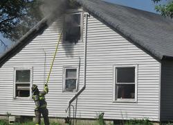 Fire sends nine to hospital