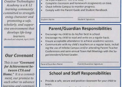 CTA Parents, Students, and Staff Agree to Covenant for Achievement