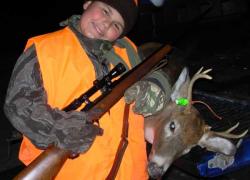 Teen gets first deer