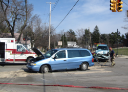 Two hurt in Cedar Springs crash