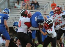 JV Red Hawk football takes second win