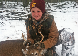Youth gets first buck