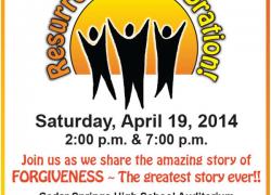 Don't miss Resurrection Celebration 2014