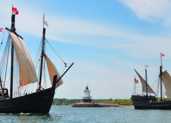 Columbus ships to land in Muskegon