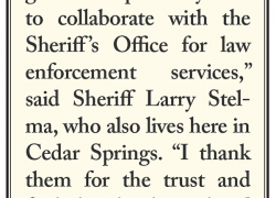 City approves contract with Sheriff Dept