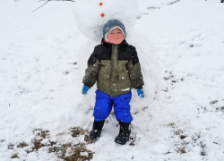 First snowfall brings first snowman