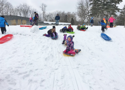 Hard Work leads to Sledding Party