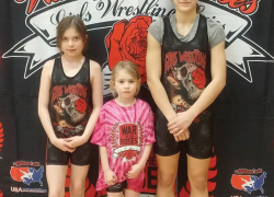 Girls youth wrestlers place at War of the Roses