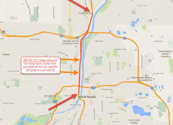 Road construction on US-131