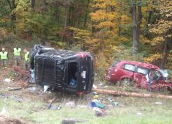Crash sends four to the hospital