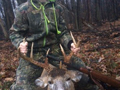 Teen gets first buck
