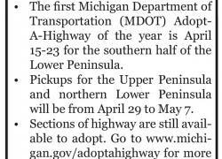 Adopt-A-Highway in Michigan begins