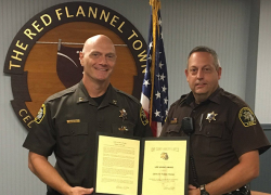 Deputy receives life saving award