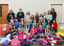 Girl Scouts hold mitten drive