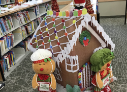 Holiday gingerbread house contest