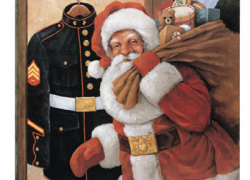 Post collecting Toys for Tots